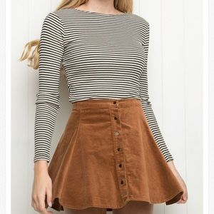 Brandy Melville Brown Corduroy Skirt. One size